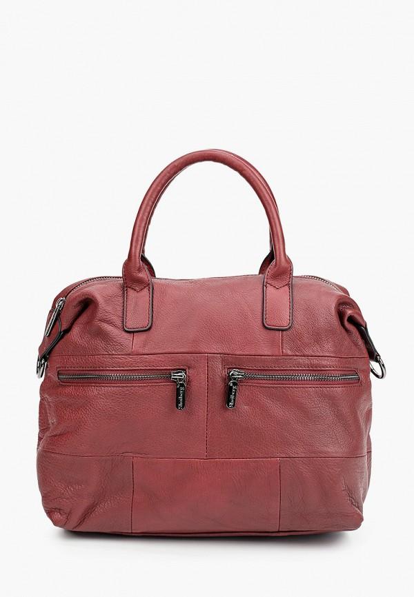 женская сумка с ручками shoiberg, бордовая