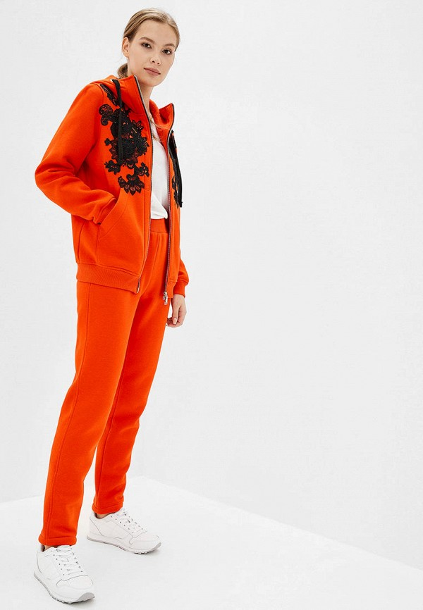 женский спортивный костюм o&j, оранжевый