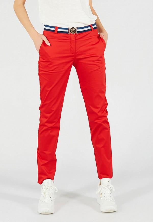 женские повседневные брюки ora, красные