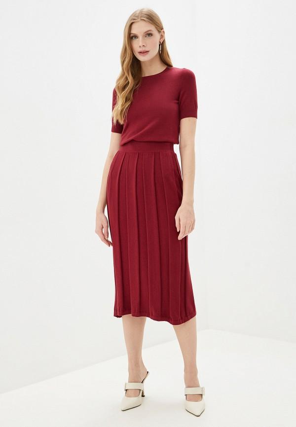 женский костюм wool studio, бордовый