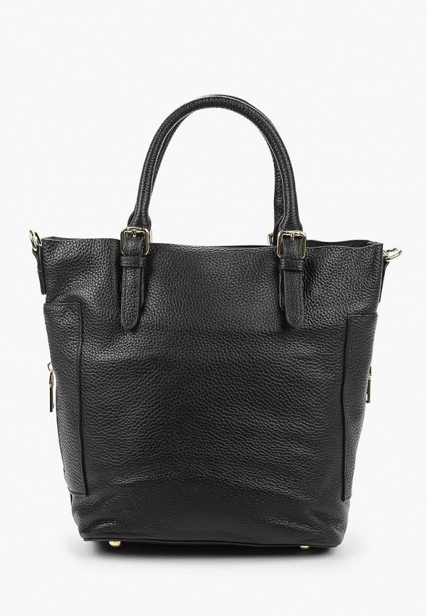 женская сумка с ручками shoiberg, черная