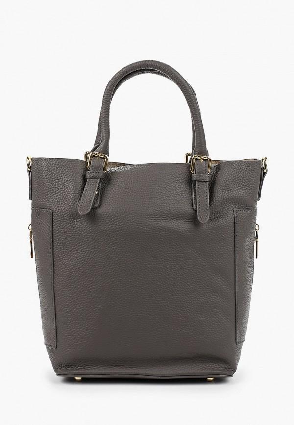 женская сумка с ручками shoiberg, серая