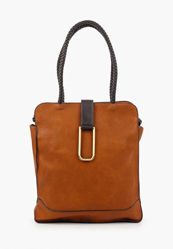 женская сумка с ручками shoiberg, коричневая