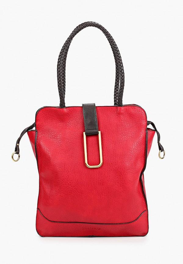 женская сумка с ручками shoiberg, красная