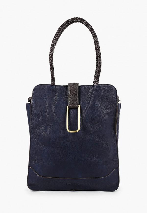 женская сумка с ручками shoiberg, синяя