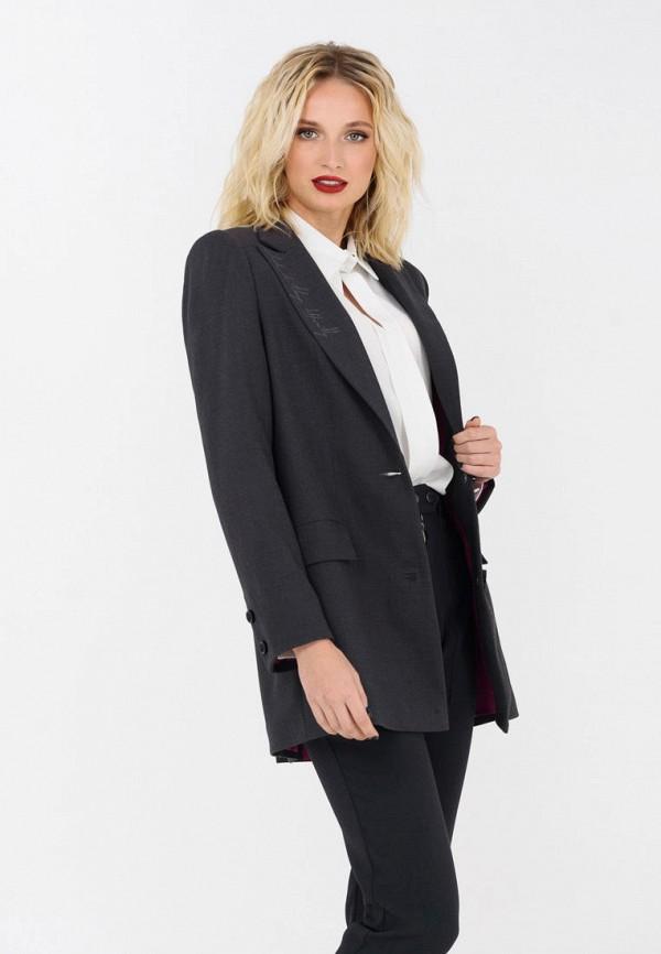 женский пиджак ricamare, серый