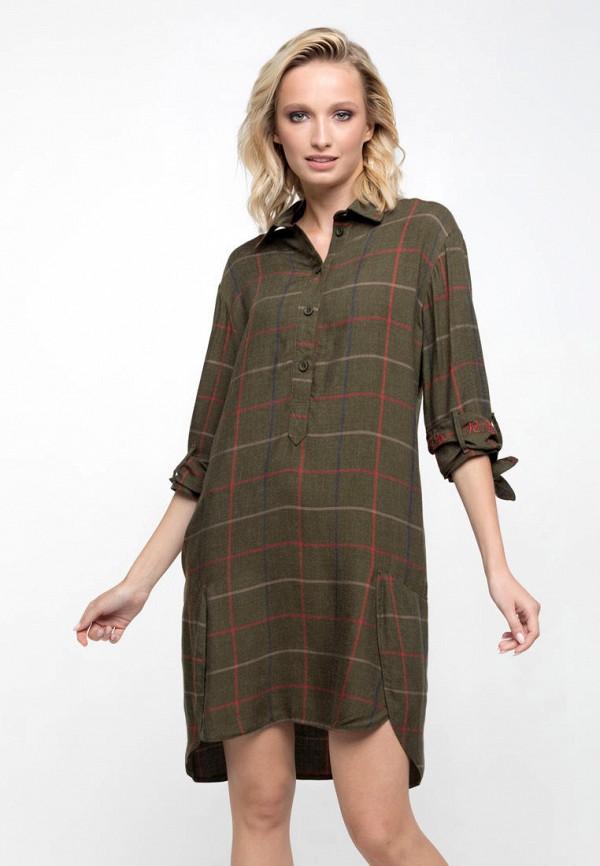 женское платье ricamare, хаки