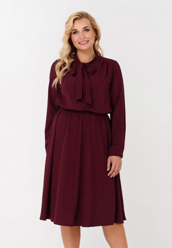женское повседневные платье ricamare, бордовое