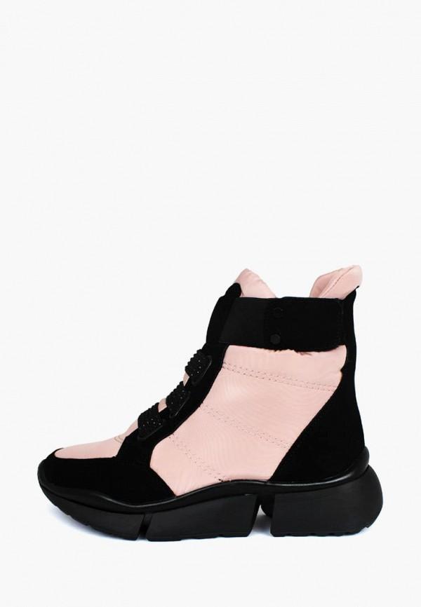 женские ботинки belletta, розовые