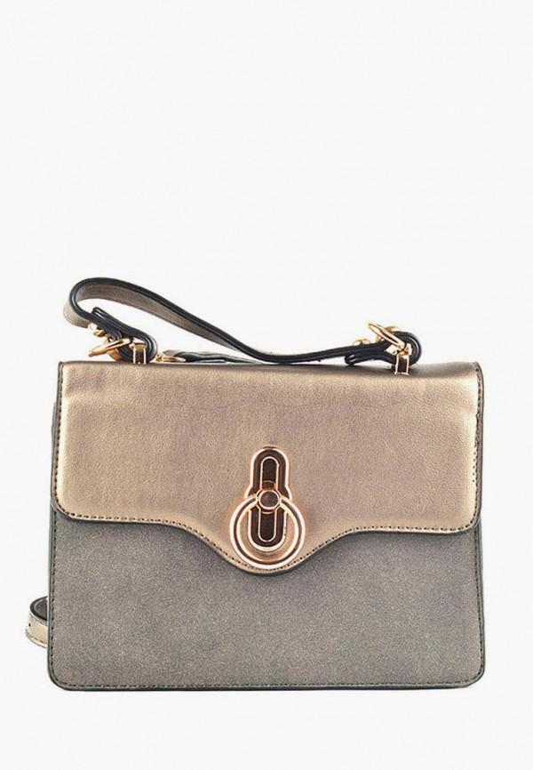 женская сумка через плечо dda, золотая