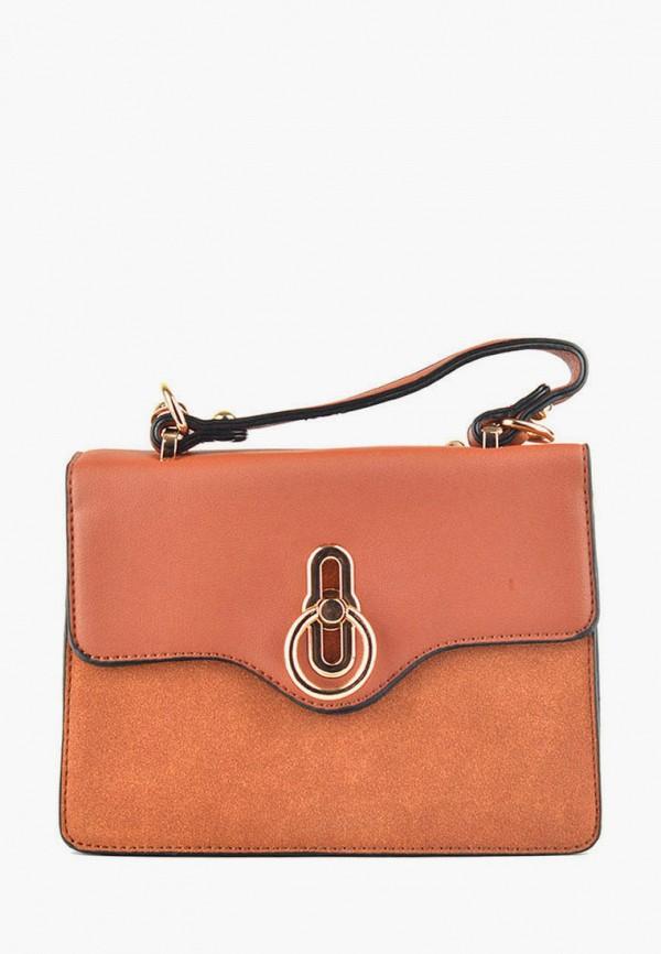 женская сумка через плечо dda, коричневая