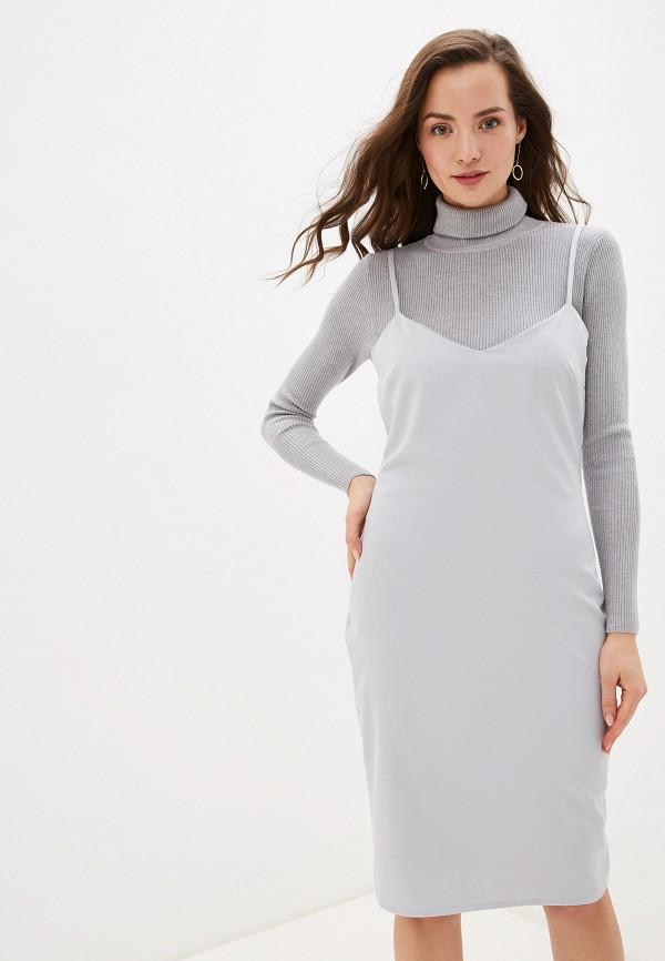 Платье Yansstudio Yansstudio MP002XW0GY66 платье miata серый 48 размер