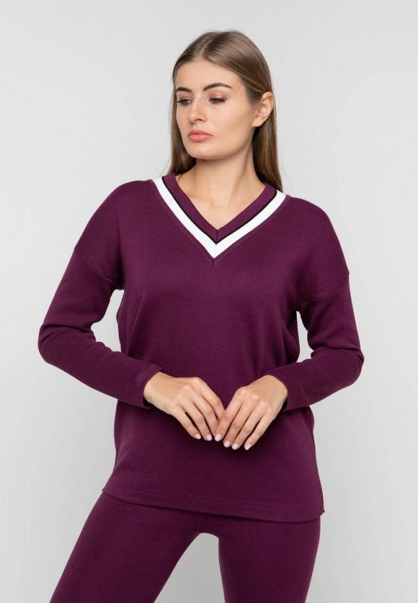 женский пуловер sewel, бордовый