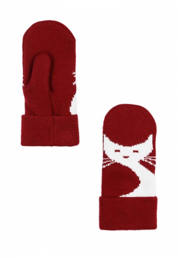 женские варежки finn flare, красные