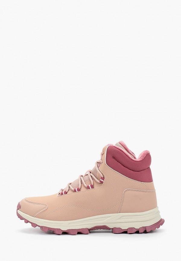 женские высокие ботинки anta, розовые