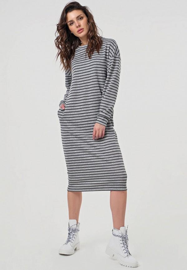 женское платье-футболки fly, серое