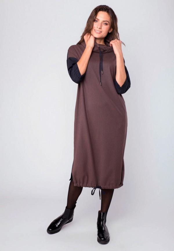 женское платье mr520, коричневое
