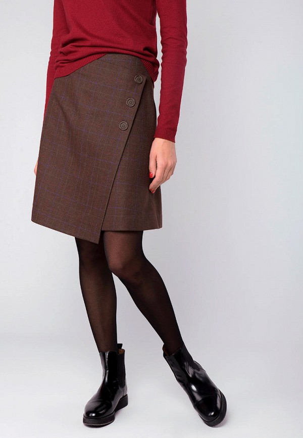 женская юбка mr520, коричневая