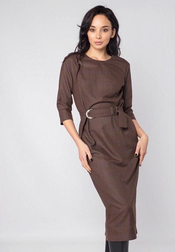женское платье-футляр mr520, коричневое