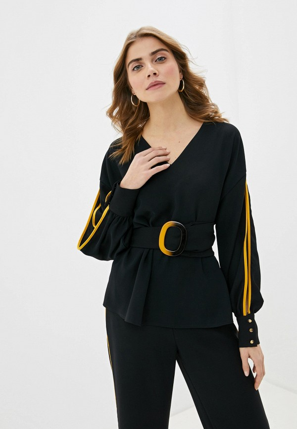 Фото 2 - Женский костюм Joymiss черного цвета