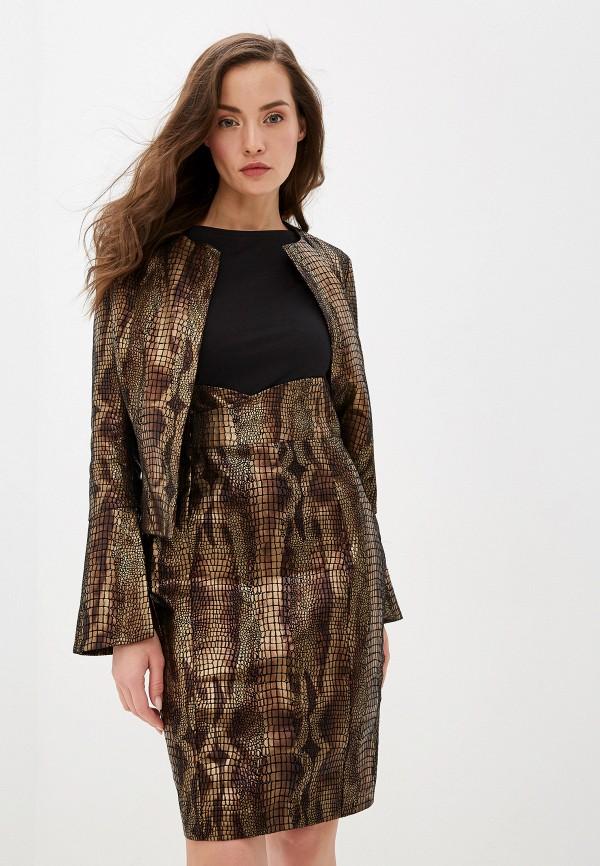 женский костюм lezzarine, коричневый