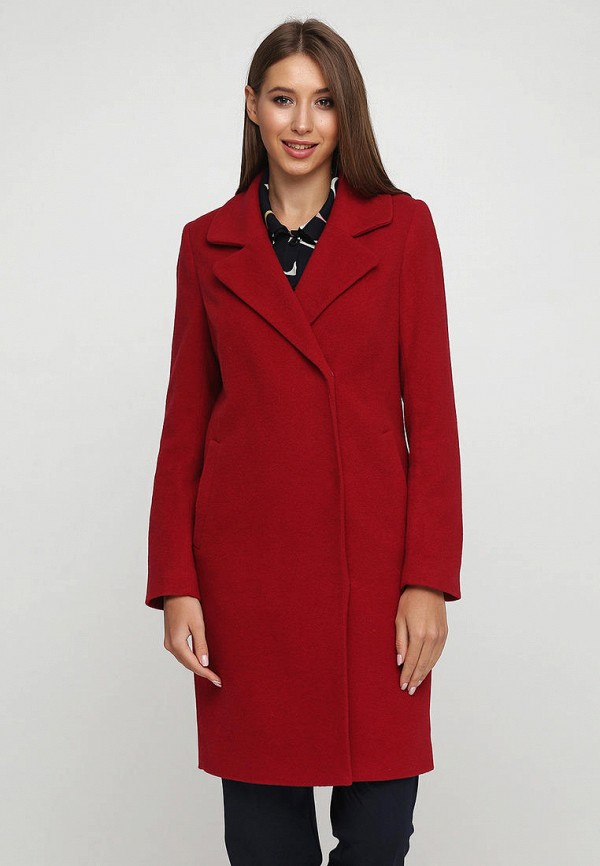 женское пальто florens, красное