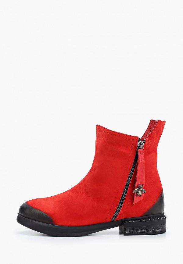 женские высокие ботинки stivalli, красные
