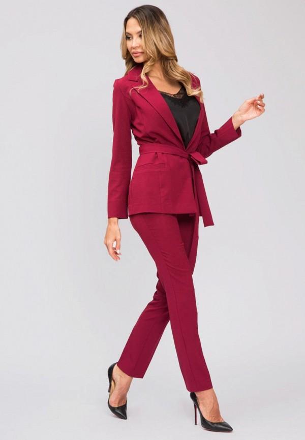 женский костюм kotis couture, бордовый