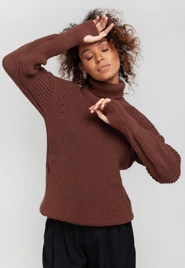 женский свитер nataclub, коричневый