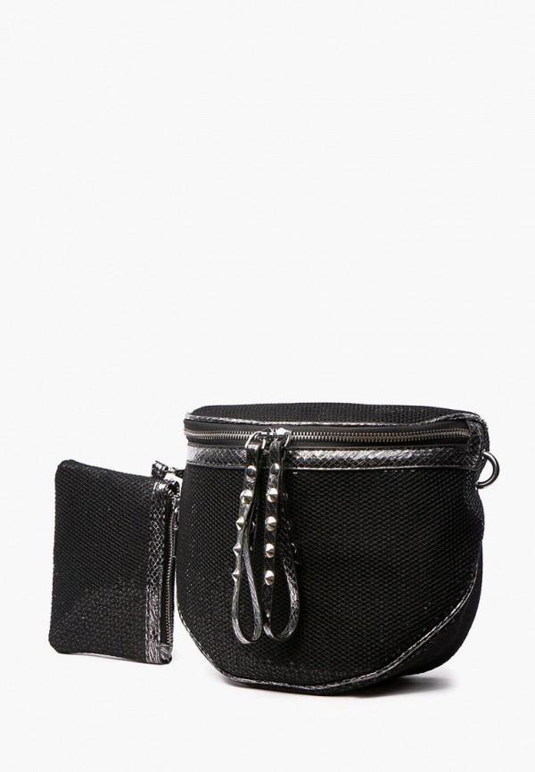 женский кошелёк через плечо dda, черный