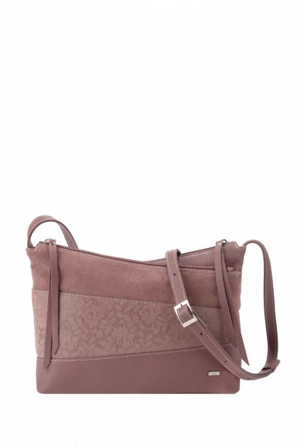 женская сумка через плечо esse, розовая