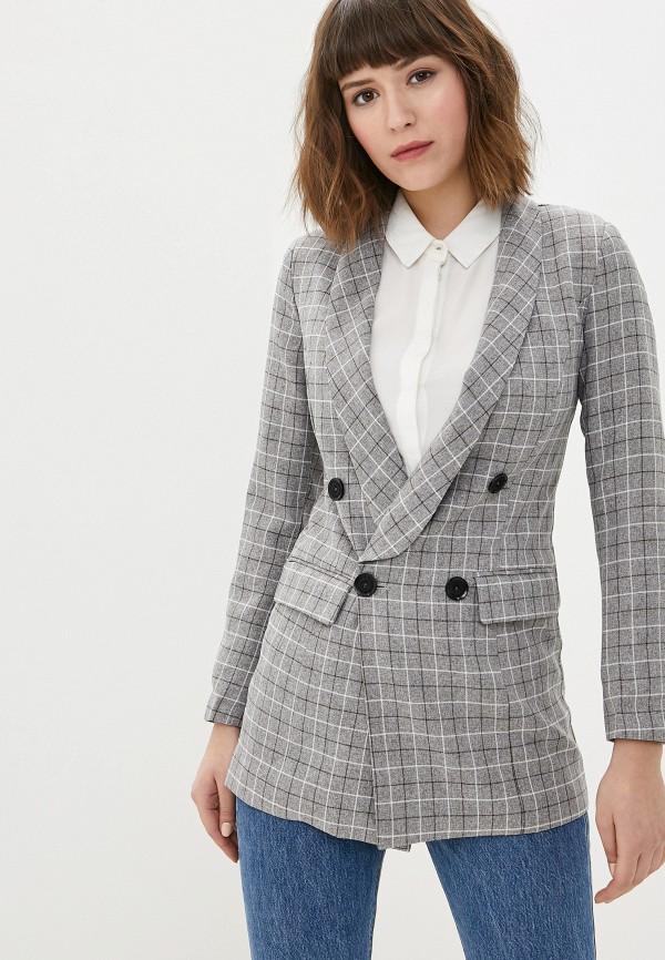 женский пиджак hochusebetakoe, серый