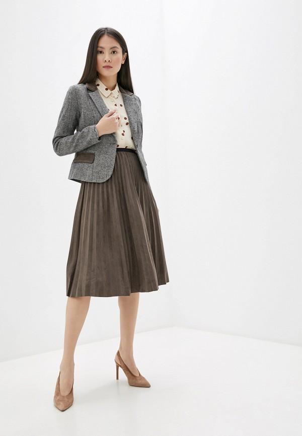 женский костюм avemod, коричневый