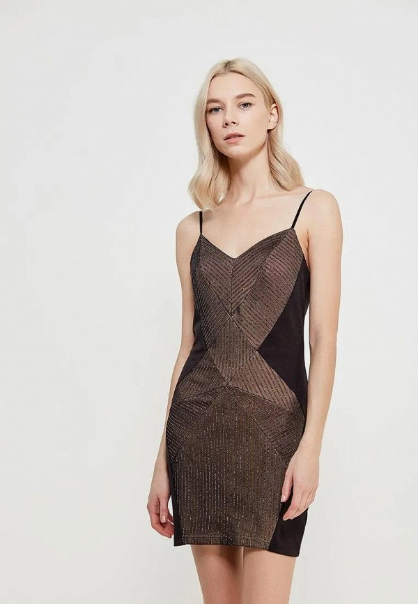 женское вечерние платье gepur, коричневое