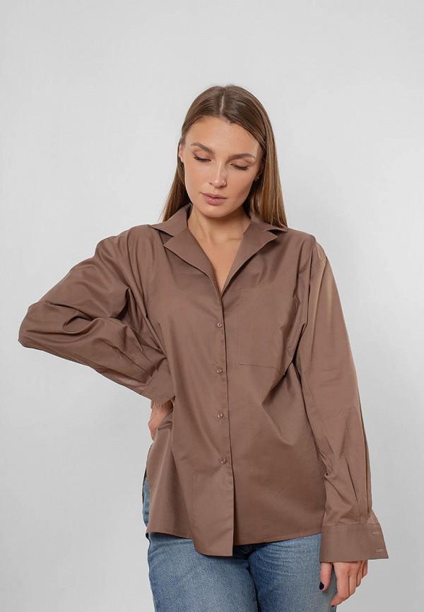 женская блузка love pam, коричневая