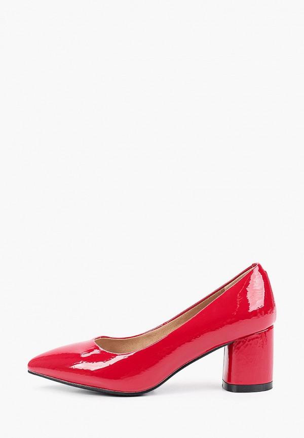 женские туфли с закрытым носом bridget, красные