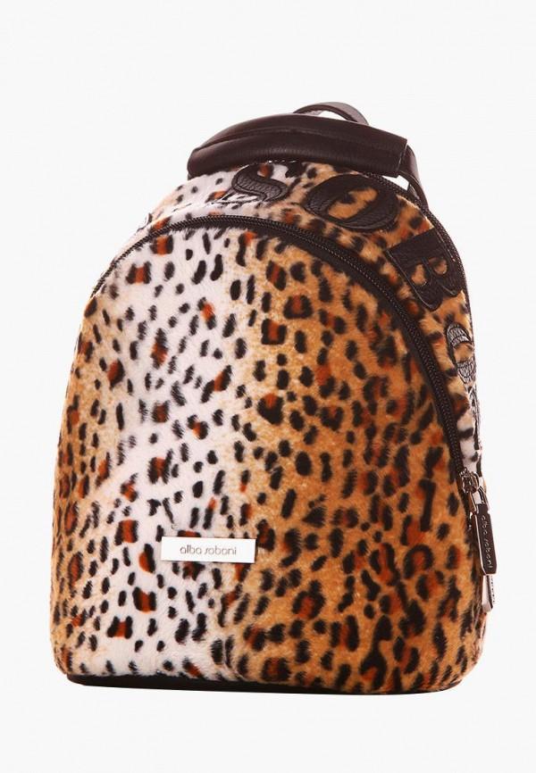 женский рюкзак alba soboni, коричневый
