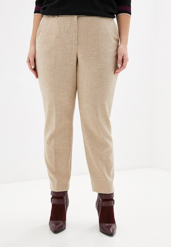 женские повседневные брюки madeleine, бежевые