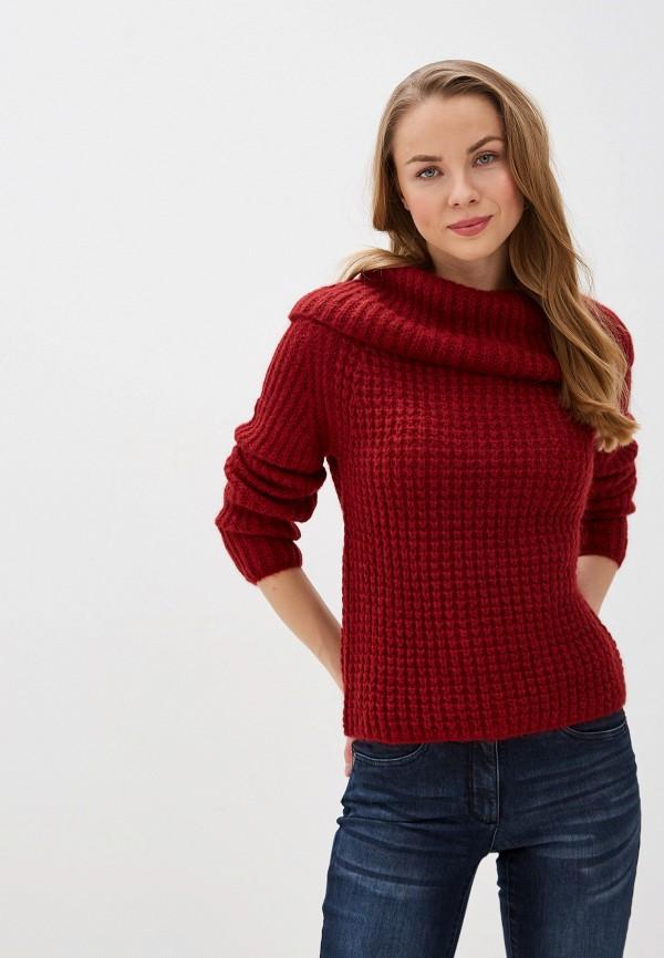женский свитер madeleine, бордовый