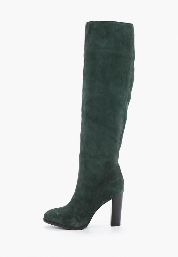 женские ботфорты enzo logana, зеленые