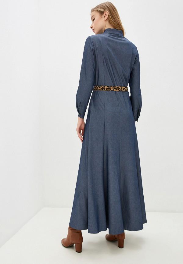 Фото 3 - Женское платье Argent синего цвета