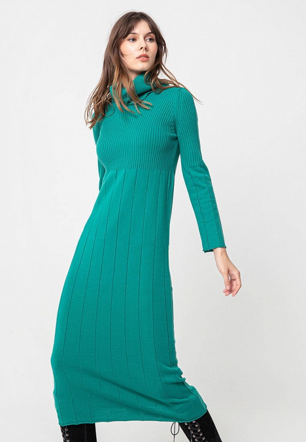 женское платье bgn, зеленое