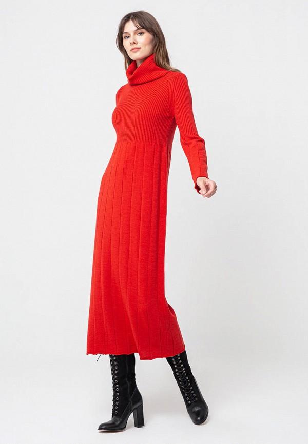 женское платье bgn, красное
