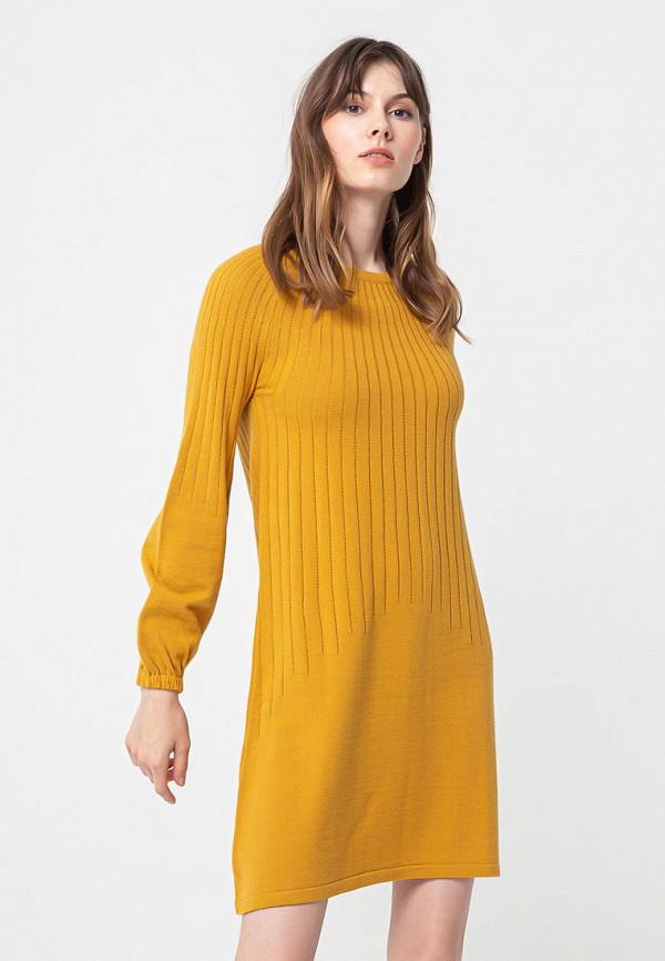 женское повседневные платье bgn, желтое
