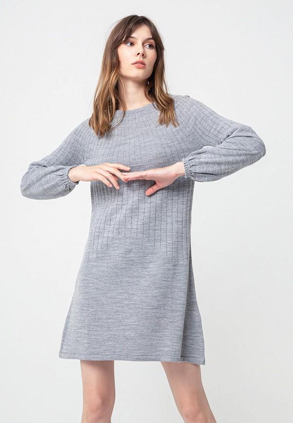 женское повседневные платье bgn, серое