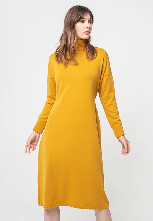 женское платье bgn, желтое