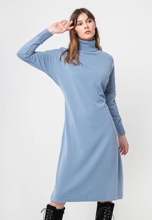 женское платье bgn, голубое