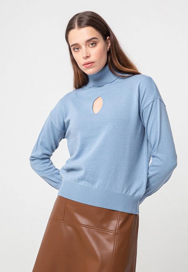 женская водолазка bgn, голубая