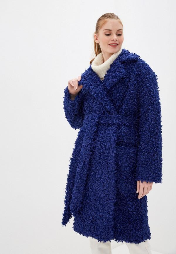 женская шуба karolina, синяя