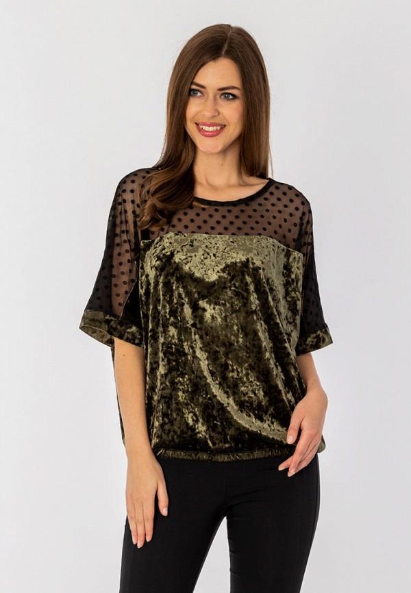 женская блузка с длинным рукавом s&a style, зеленая